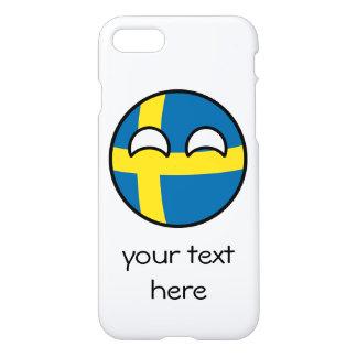 Funda Para iPhone 8/7 Suecia Geeky que tiende divertida Countryball