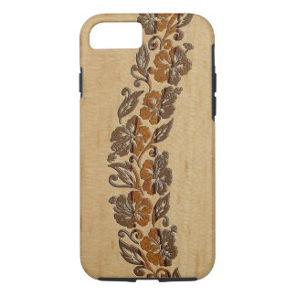 Funda Para iPhone 8/7 Tabla hawaiana de madera del hibisco hawaiano de