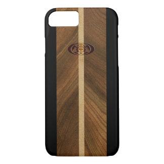 Funda Para iPhone 8/7 Tabla hawaiana de madera hawaiana del punto rocoso