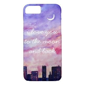 Funda Para iPhone 8/7 Te amo a la luna y al caso trasero del iPhone