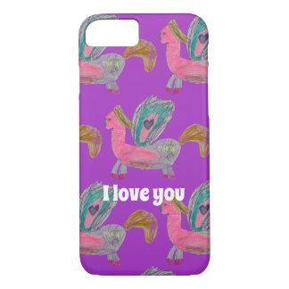 Funda Para iPhone 8/7 Te amo caja del teléfono del unicornio