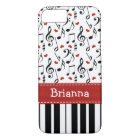 Funda Para iPhone 8/7 Teclado de la nota de la música del piano
