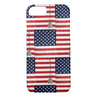 Funda Para iPhone 8/7 Tejas de la bandera americana y de la placa de