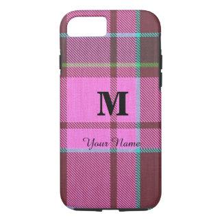 Funda Para iPhone 8/7 Tela escocesa de tartán rosada femenina