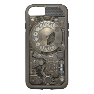 Funda Para iPhone 8/7 Teléfono de dial rotatorio del metal de Steampunk.