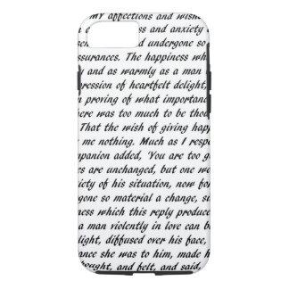 Funda Para iPhone 8/7 Texto del orgullo y del perjuicio