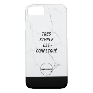 Funda Para iPhone 8/7 Texto SIMPLE mínimo del mármol del logotipo de