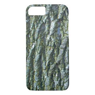 Funda Para iPhone 8/7 Textura de la corteza de árbol de ceniza verde de