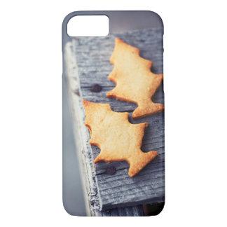 Funda Para iPhone 8/7 Textura de madera del árbol de navidad de las