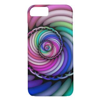 Funda Para iPhone 8/7 Tienda espiral del caramelo del fractal