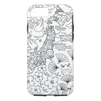 Funda Para iPhone 8/7 Tinta: Caso de JAPÓN