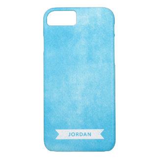 Funda Para iPhone 8/7 Tinta rodada azul de moda