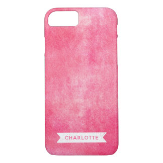 Funda Para iPhone 8/7 Tinta rodada rosa de moda