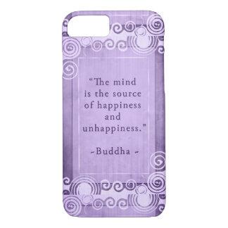 Funda Para iPhone 8/7 Tipografía inspirada de la cita de Buda