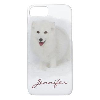 Funda Para iPhone 8/7 Toda la pintura blanca de la acuarela del Fox