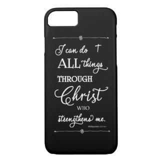 Funda Para iPhone 8/7 Todas las cosas a través de Cristo - 4:13 de los