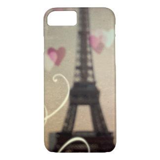 Funda Para iPhone 8/7 Torre Eiffel del vintage en la caja del teléfono