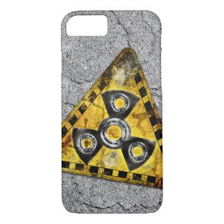 Funda Para iPhone 8/7 Triángulo amonestador de la radiación nuclear del