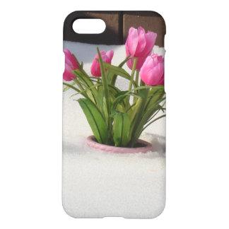 Funda Para iPhone 8/7 Tulipanes del invierno en tormenta de la nieve