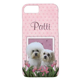 Funda Para iPhone 8/7 Tulipanes rosados - Bichon y maltés