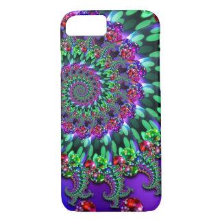 Funda Para iPhone 8/7 Turquesa de la púrpura del fractal de Bokeh