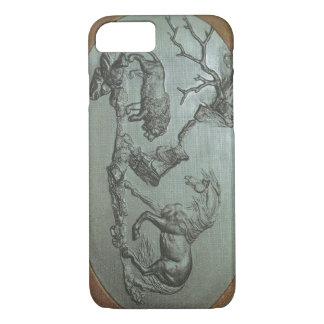 Funda Para iPhone 8/7 Un león, un caballo, 1780 un caso del iPhone 7 de