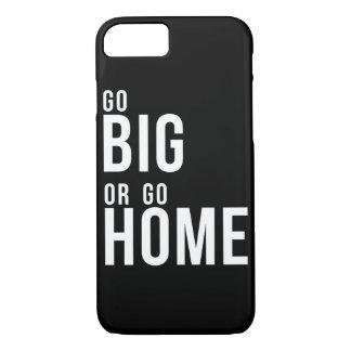 Funda Para iPhone 8/7 Vaya grande o vaya a casa blanco y negro