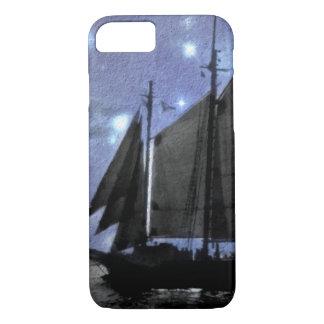 Funda Para iPhone 8/7 velero del velero del mar del océano de la noche