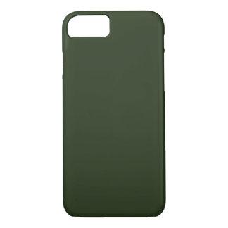 Funda Para iPhone 8/7 ~ VERDE SPRUCE (del color sólido)