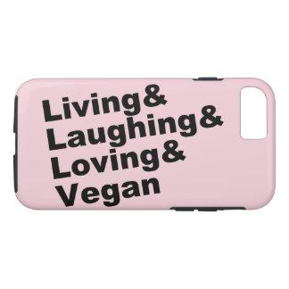 Funda Para iPhone 8/7 Vida y risa y amor y vegano (negro)