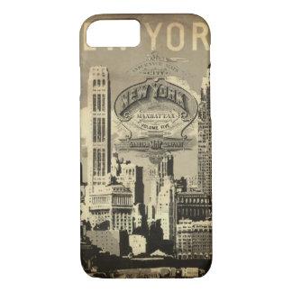Funda Para iPhone 8/7 Vintage Nueva York del viaje de América los
