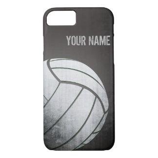 Funda Para iPhone 8/7 voleibol con la sombra del negro del efecto del