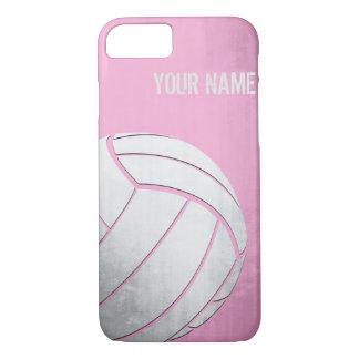 Funda Para iPhone 8/7 Voleibol con la sombra del rosa del efecto del