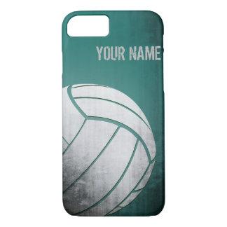 Funda Para iPhone 8/7 Voleibol con la sombra del verde del efecto del