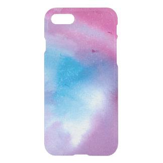 Funda Para iPhone 8/7 Watercolour de mármol rosado y azul