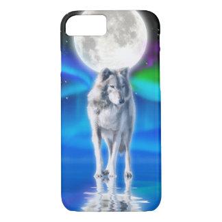 Funda Para iPhone 8/7 White Wolf y escena ártica de la fauna de la