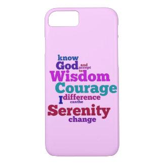 Funda Para iPhone 8/7 Wordle del rezo de la serenidad