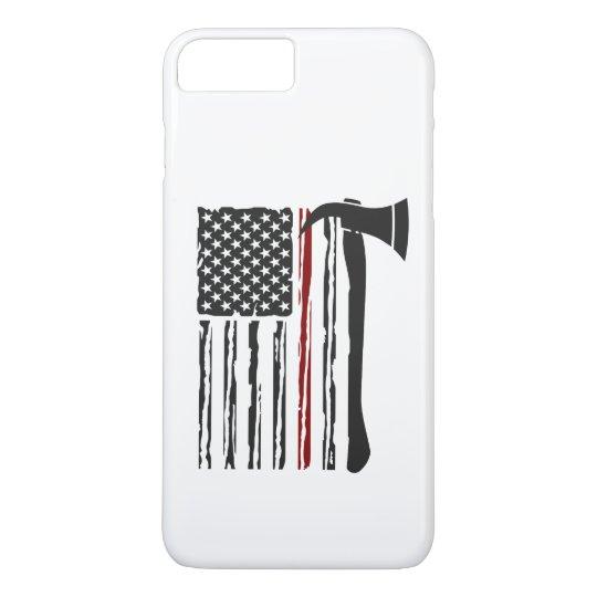 Funda Para iPhone 8 Plus/7 Plus american flag firefighter