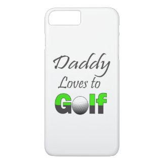 Funda Para iPhone 8 Plus/7 Plus Amores del papá para golf el caso de la célula de