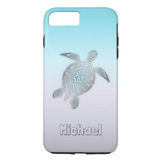 Funda Para iPhone 8 Plus/7 Plus Animal de plata del monograma de las tortugas de