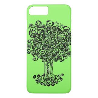 Funda Para iPhone 8 Plus/7 Plus Árbol de la vida con el fondo verde