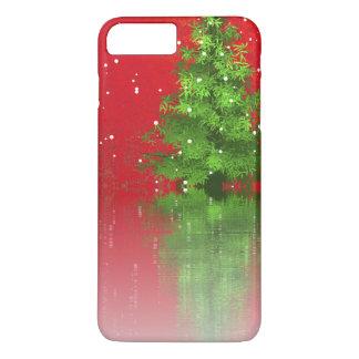 Funda Para iPhone 8 Plus/7 Plus Árbol de navidad en una caja roja del teléfono del