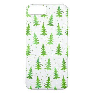 Funda Para iPhone 8 Plus/7 Plus Árboles de pino de la acuarela