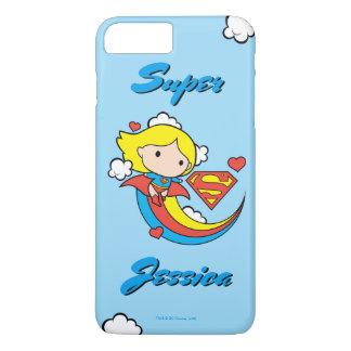 Funda Para iPhone 8 Plus/7 Plus Arco iris del vuelo de Chibi Supergirl