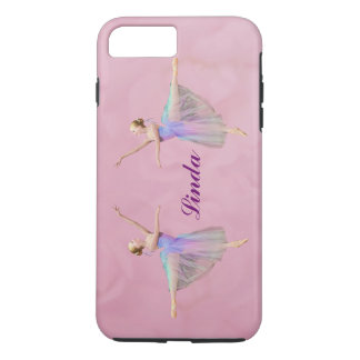 Funda Para iPhone 8 Plus/7 Plus Bailarina en el Arabesque, nombre adaptable