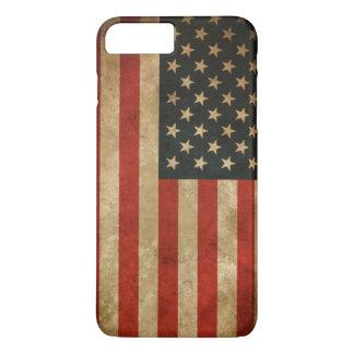 Funda Para iPhone 8 Plus/7 Plus Bandera americana del Grunge del vintage - los