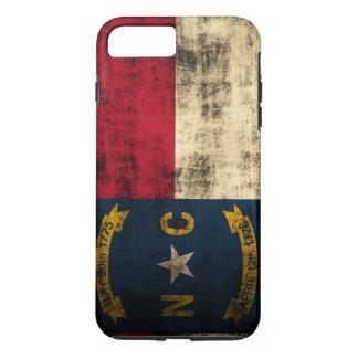 Funda Para iPhone 8 Plus/7 Plus Bandera de Carolina del Norte del Grunge del
