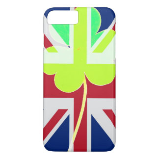 Funda Para iPhone 8 Plus/7 Plus Bandera irlandesa de Reino Unido del trébol del
