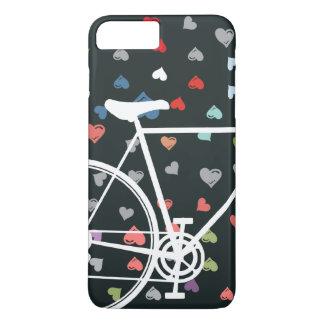 Funda Para iPhone 8 Plus/7 Plus Bicicleta abstracta de los corazones negros del