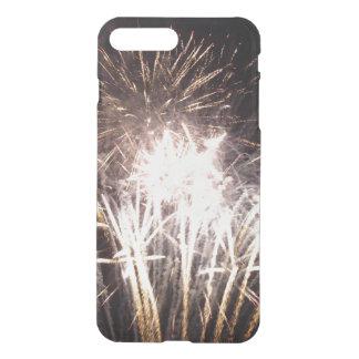 Funda Para iPhone 8 Plus/7 Plus Blanco y fuegos artificiales del oro I
